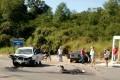 Colisão deixa mãe e filho feridos, na SC-108, em São Ludgero