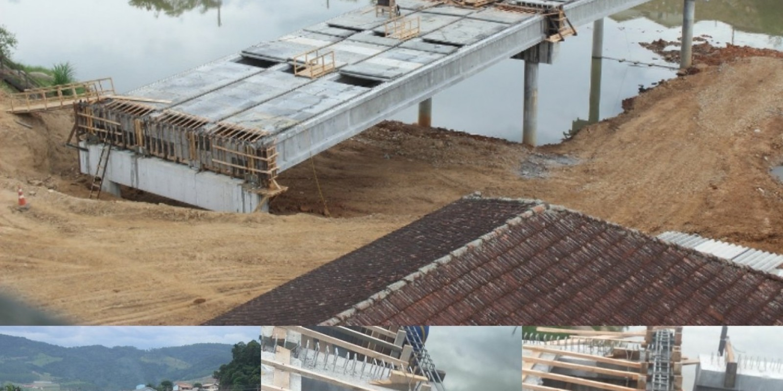Trabalhos na construção da segunda ponte seguem com execução das vigas de travamento