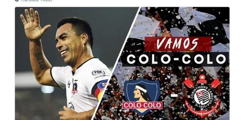 Errado: Colo-Colo anuncia duelo contra o Corinthians de Laguna