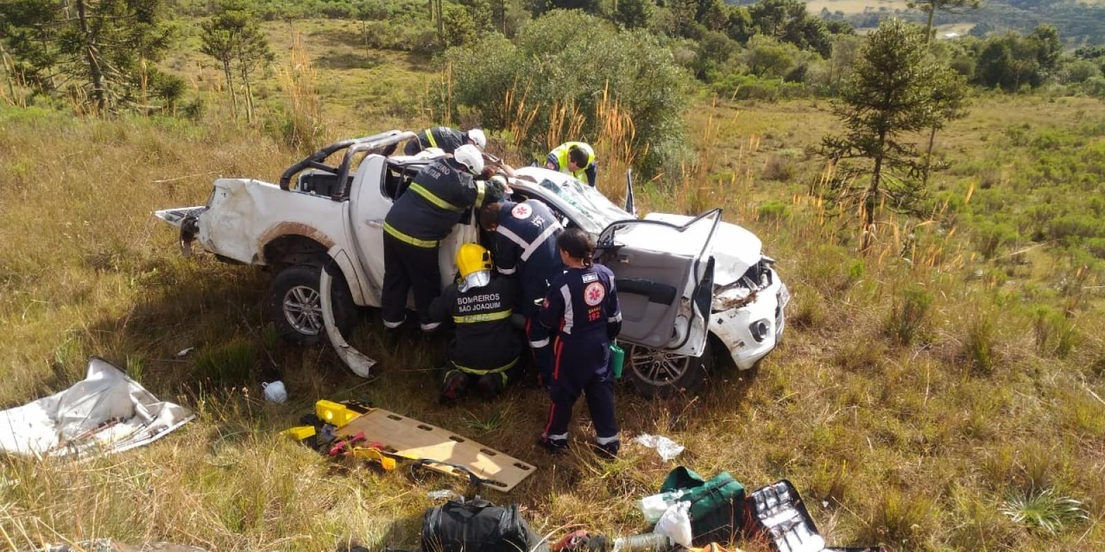Homem morre em acidente na SC-110 próximo ao Snow Valley em São Joaquim