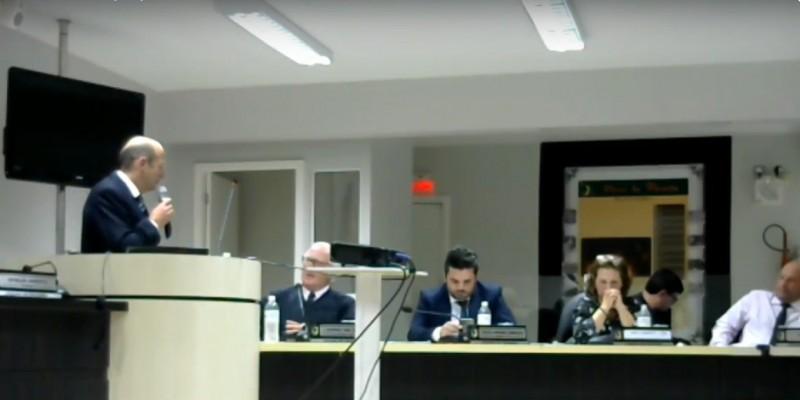Reitor do Unibave leva informações da instituição aos vereadores