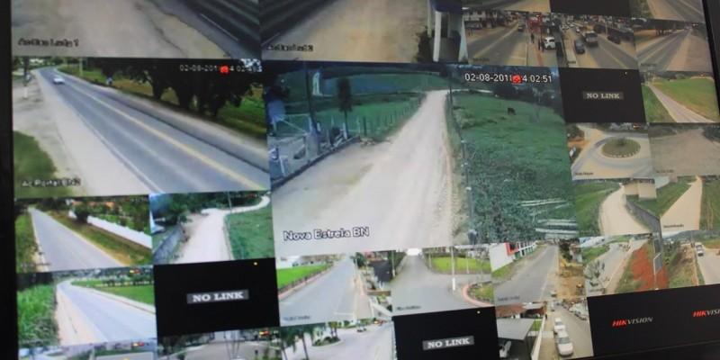 São Ludgero já conta com 30 câmeras de segurança funcionando
