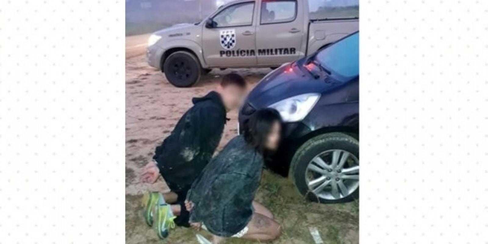 PM localiza veículo usado em assalto, em São Ludgero e prende dois assaltantes