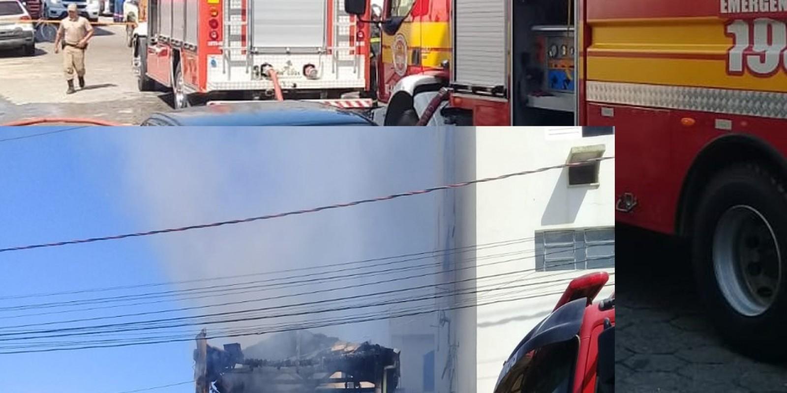 Incêndio destrói parte de casa em Braço do Norte