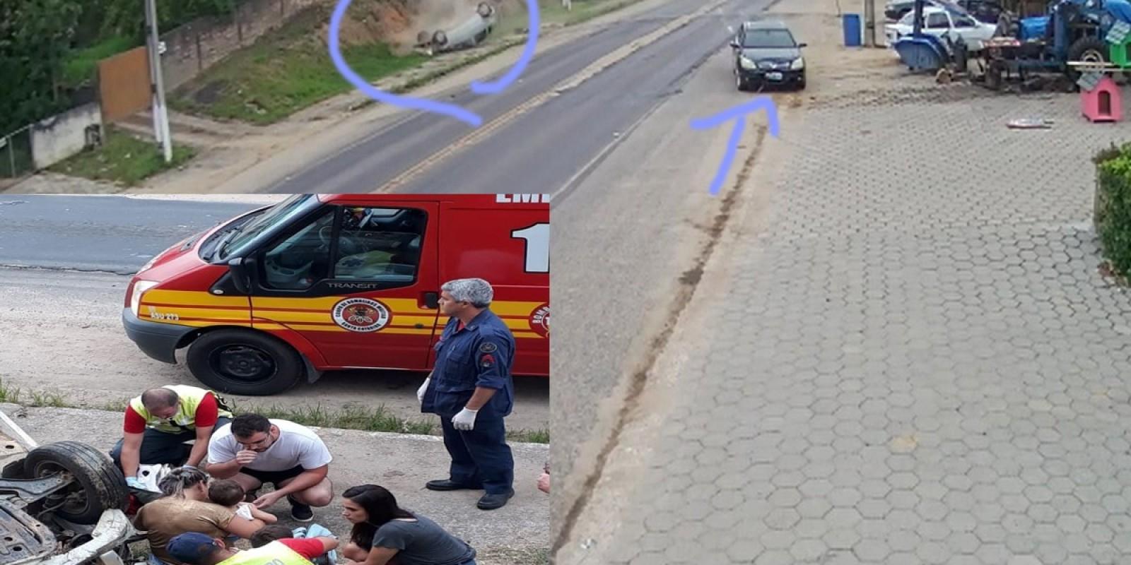 Vereador de Armazém causa acidente e deixa crianças feridas em Gravatal