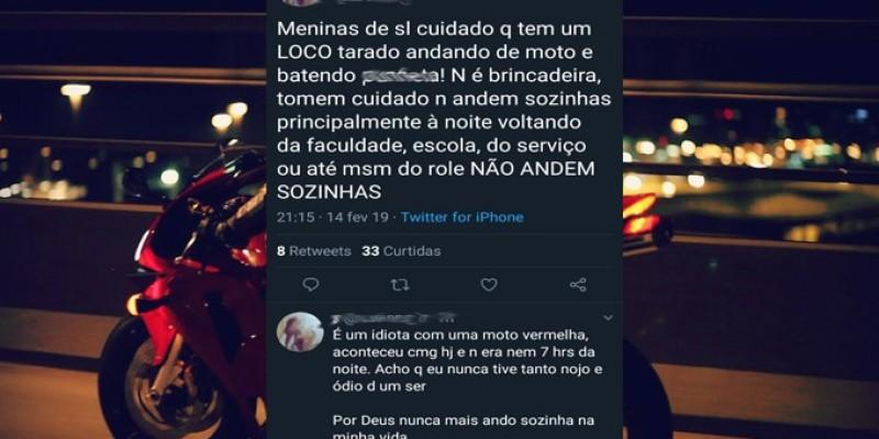 Motoqueiro persegue garota mostrando partes íntimas em São Ludgero