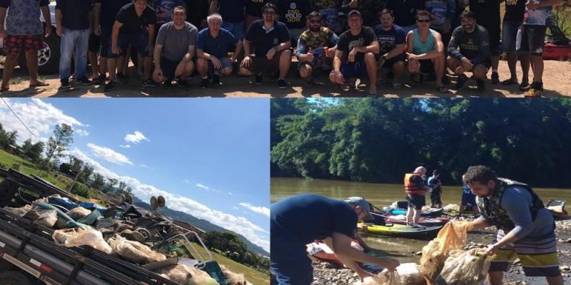 210 quilos de lixo foram recolhidos em ação do Rotary Club e Caiaqueiros de São Ludgero