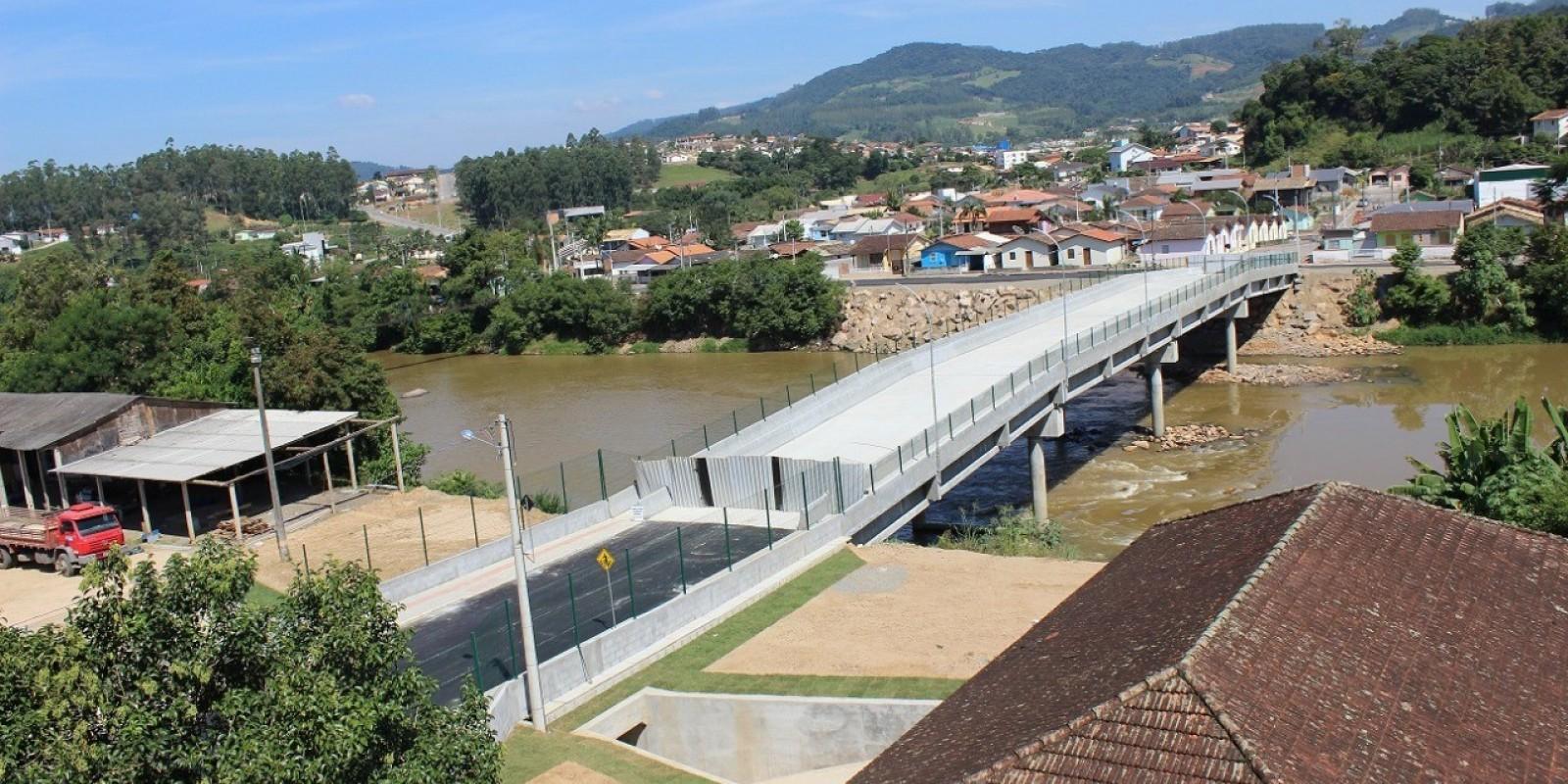 É hoje a inauguração da segunda ponte, em São Ludgero