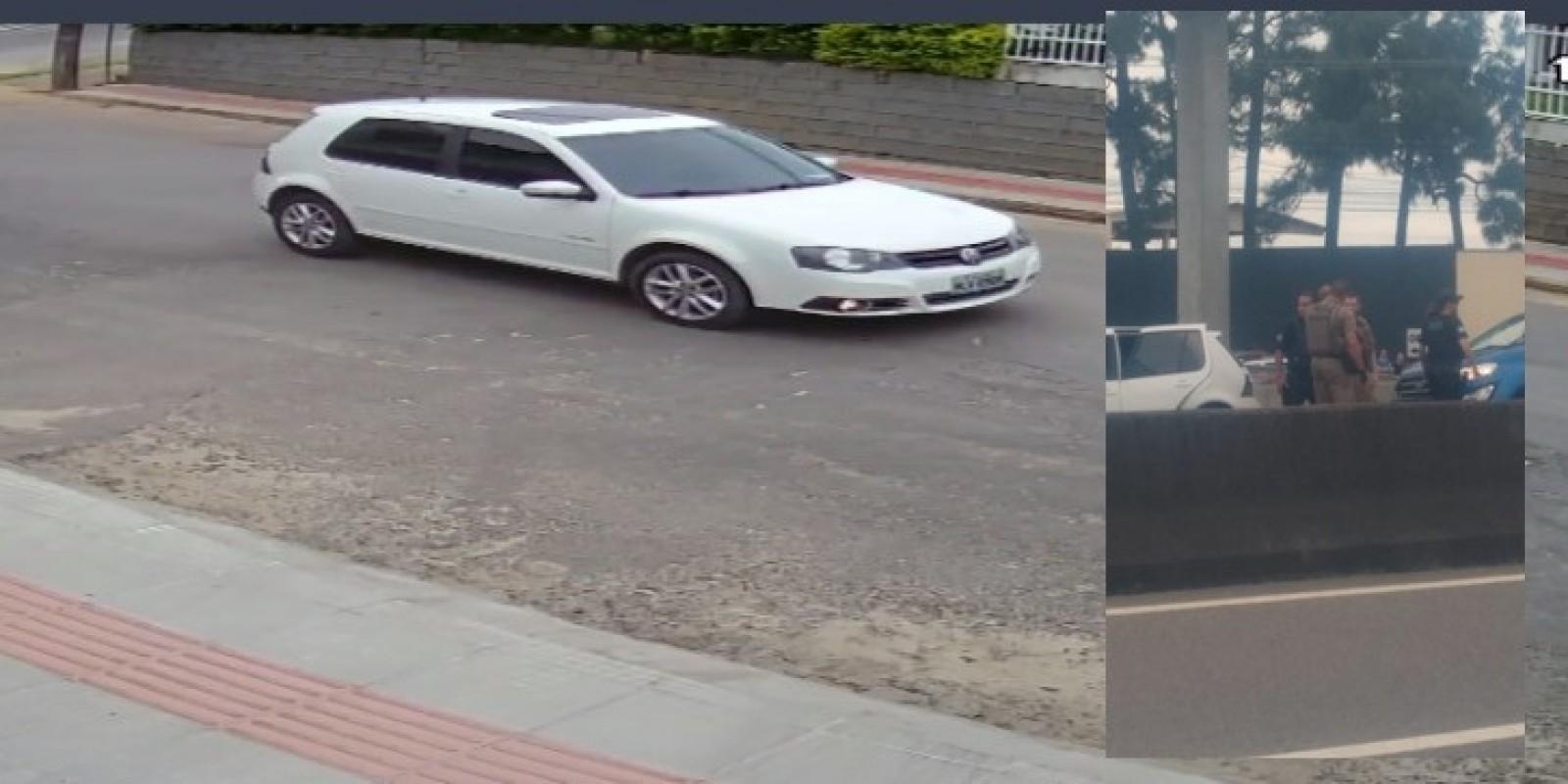 Veículo é furtado com criança dentro, em Braço do Norte