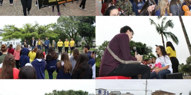 1ª Caminhada de Combate ao Abuso e à Exploração Sexual contra Crianças e Adolescentes realizada em São Ludgero foi sucesso