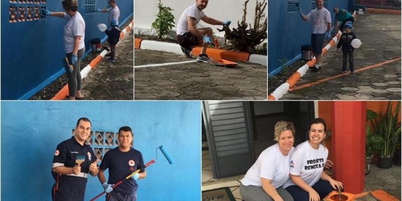 Funcionários do SAMU de Braço do Norte realizam manutenções para melhorar ambiente de trabalho