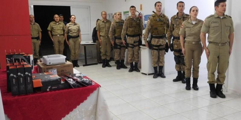 PM de Braço do Norte adquire equipamentos em parceria com o Ministério Público