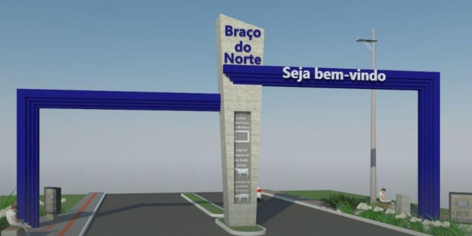 Pórtico de entrada de Braço do Norte será modernizado
