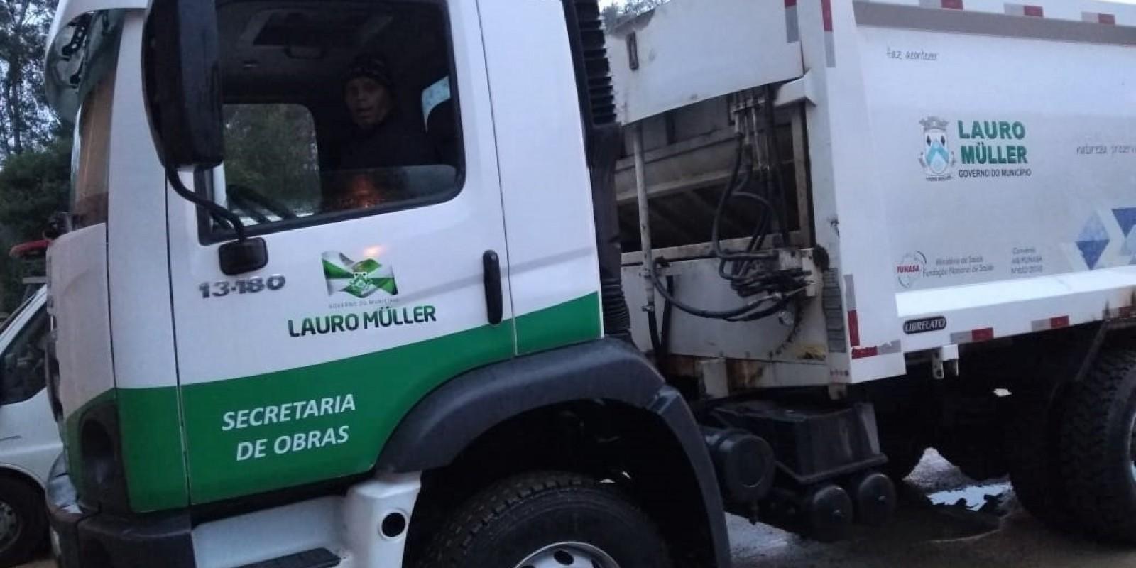 Administração Municipal de Lauro Müller vai triplicar capacidade de coleta de lixo, até o final do mês