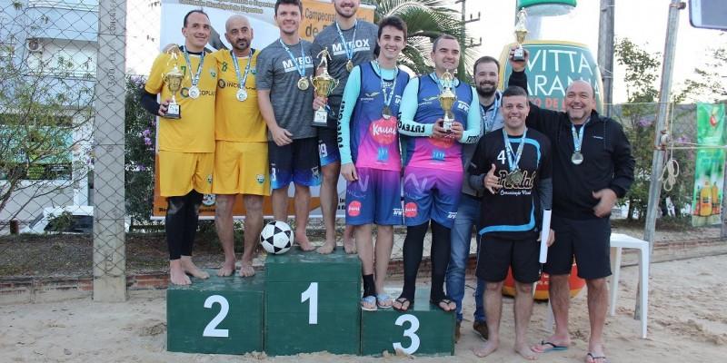 """Érick/Hewerthon conquistam o título do 1º Campeonato Municipal de Futevôlei de São Ludgero troféu """"Vitta Laranja"""""""