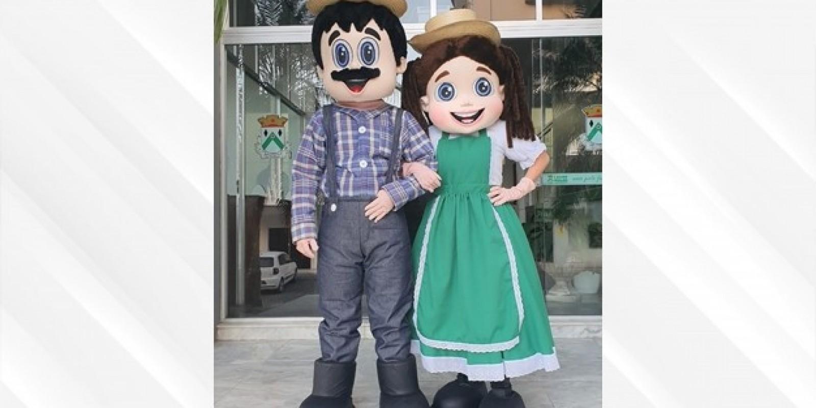 Festa do Agricultor, de Lauro Müller, tem enquete para escolher nomes das mascotes