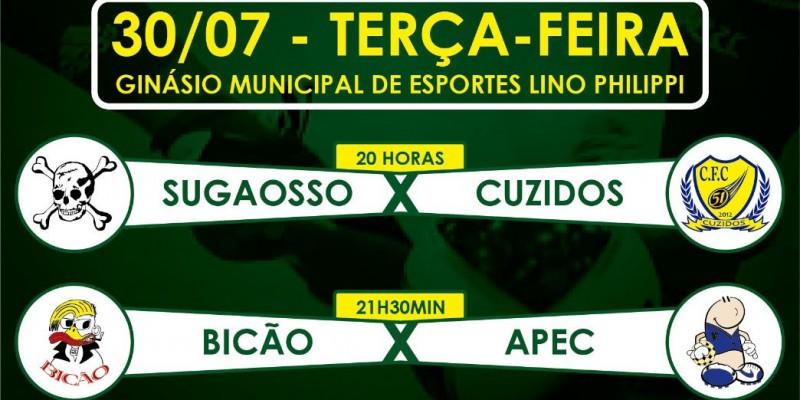 Sugaosso/Serrinha x Cuzidos e Bicão x Apec. Quem disputará o título da 16ª Taça Cegero?