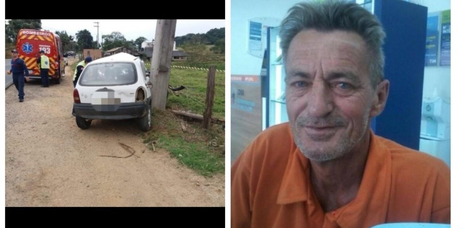 Homem que morreu em acidente em Braço do Norte é identificado