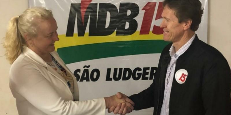 Nilva Schlickmann Pickler assume comando do MDB de São Ludgero