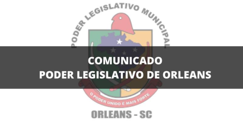Câmara de Vereadores de Orleans suspende atividades temporariamente