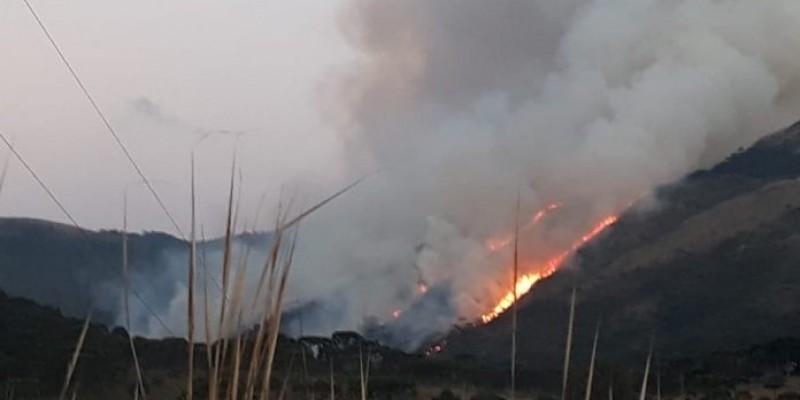 Incêndio atinge Parque Nacional na Serra Catarinense