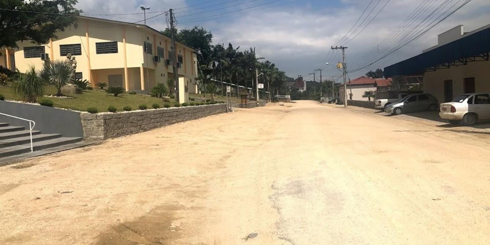 Mais 7 ruas serão pavimentadas em Braço do Norte