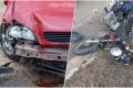 Acidente entre carro e moto deixa homem gravemente ferido em BN
