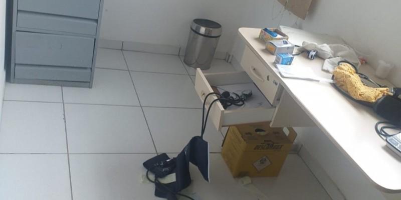 Vândalos danificam móveis e equipamentos na Unidade de Saúde do Guatá, em Lauro Müller