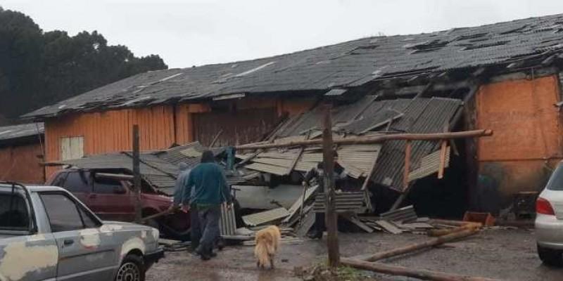 Ciclone causa grande destruição em Bom Jardim da Serra – A cidade está há três dias incomunicável