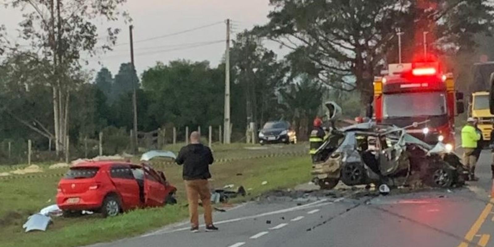 Acidente deixa vítima fatal entre Orleans e Urussanga