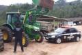 Trator furtado em São Paulo é recuperado em São Ludgero