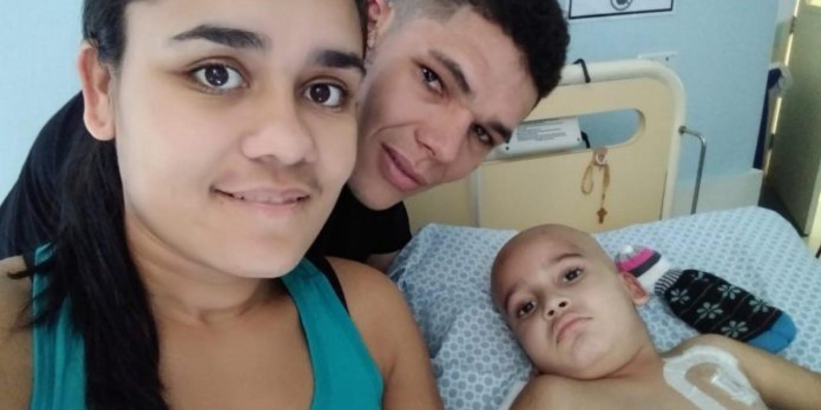 Braço do Norte: Família faz vakinha online para continuar tratamento do filho com tumor no cérebro