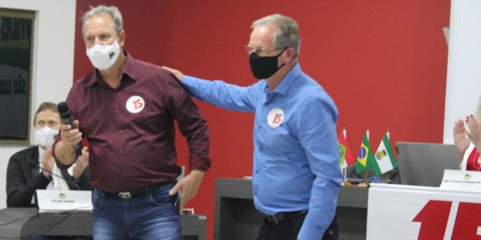 Em Convenção, MDB confirma coligação com PL em São Ludgero.