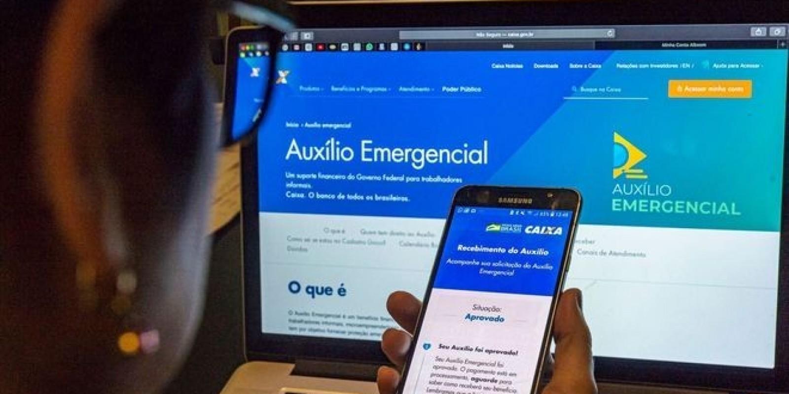 Mais 5,2 milhões recebem auxílio emergencial nesta terça