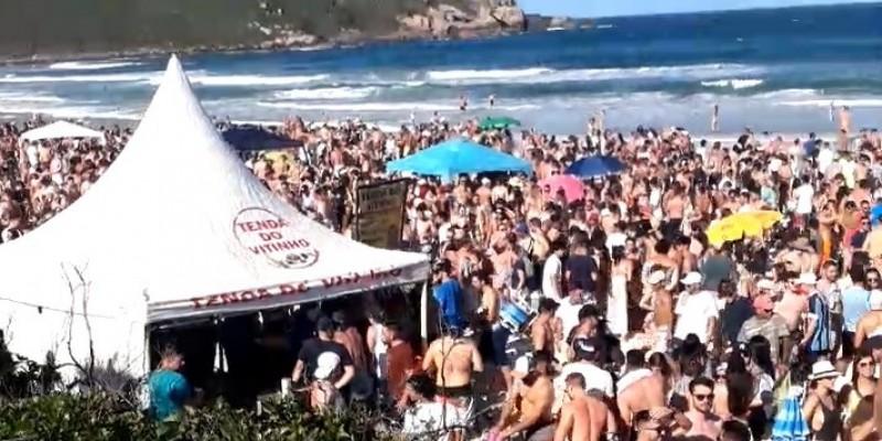 MP cobra explicações da prefeitura de Imbituba sobre aglomerações na Praia do Rosa