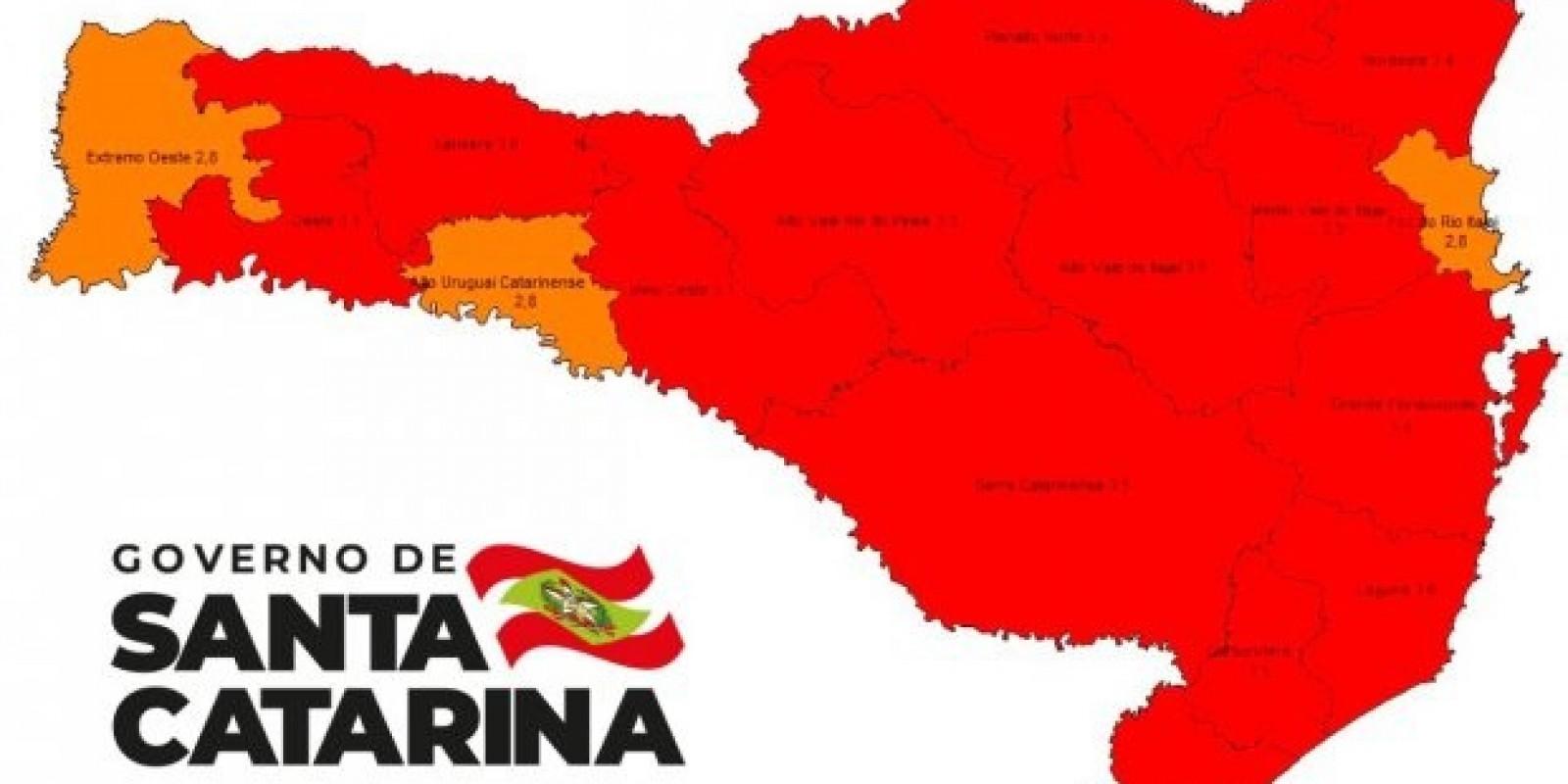 Governo alerta em nova matriz de risco para 13 regiões em nível gravíssimo e três regiões em nível grave