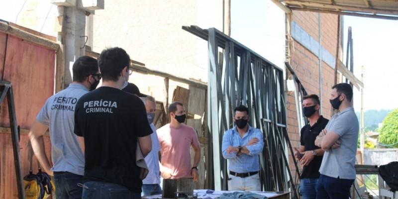 IGP inicia perícia no ginásio que desabou em Braço do Norte