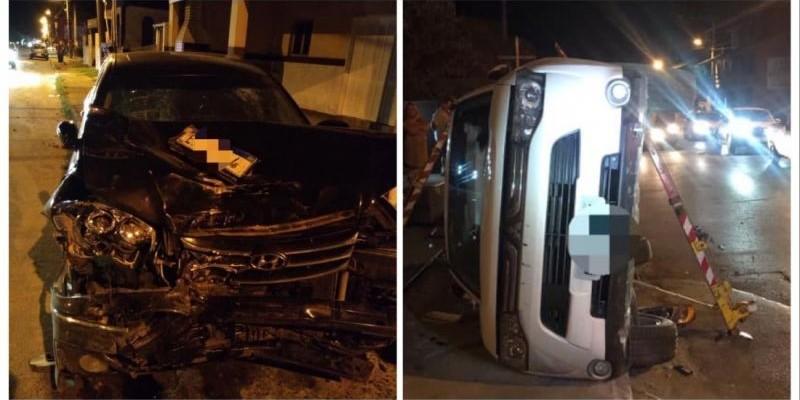Três pessoas feridas em acidente