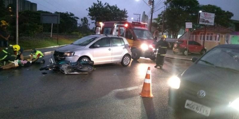 Acidente em Capivari de Baixo deixa duas pessoas feridas