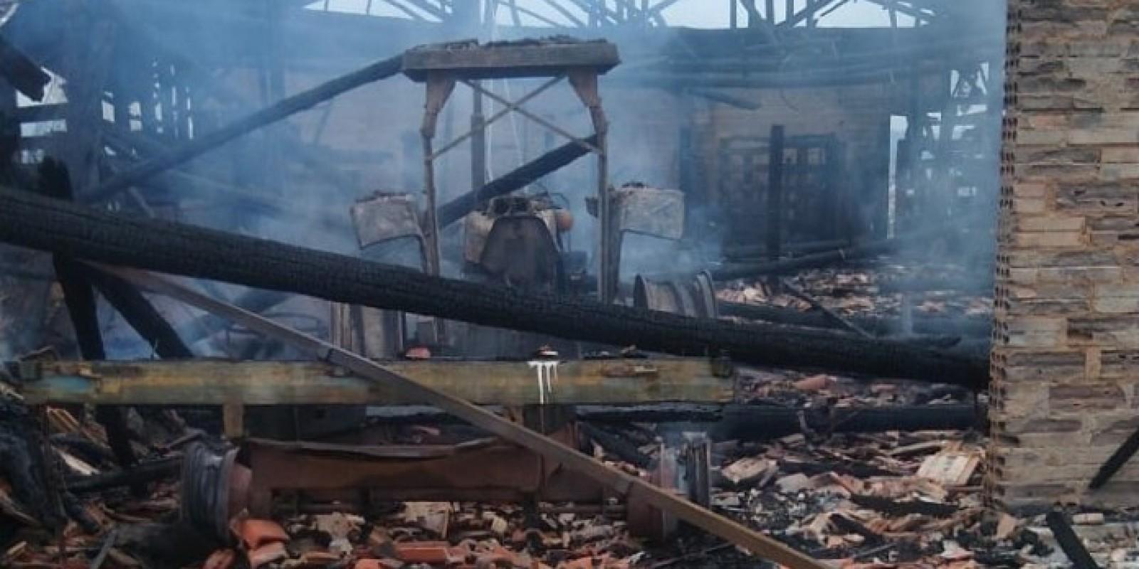 Incêndio é registrado em São Ludgero