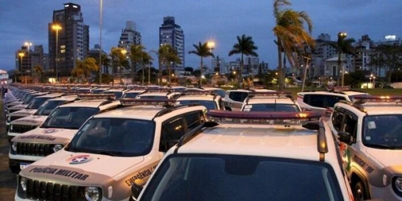 Estado entrega 186 novas viaturas para a Polícia Militar