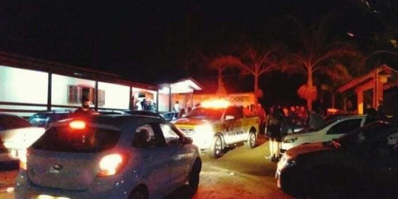 Polícia Militar encerra festa no Amaral, em Lauro Müller