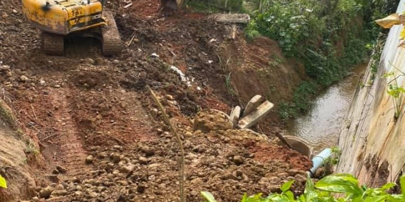 Secretaria de Infraestrutura recupera área afetada pelas chuvas