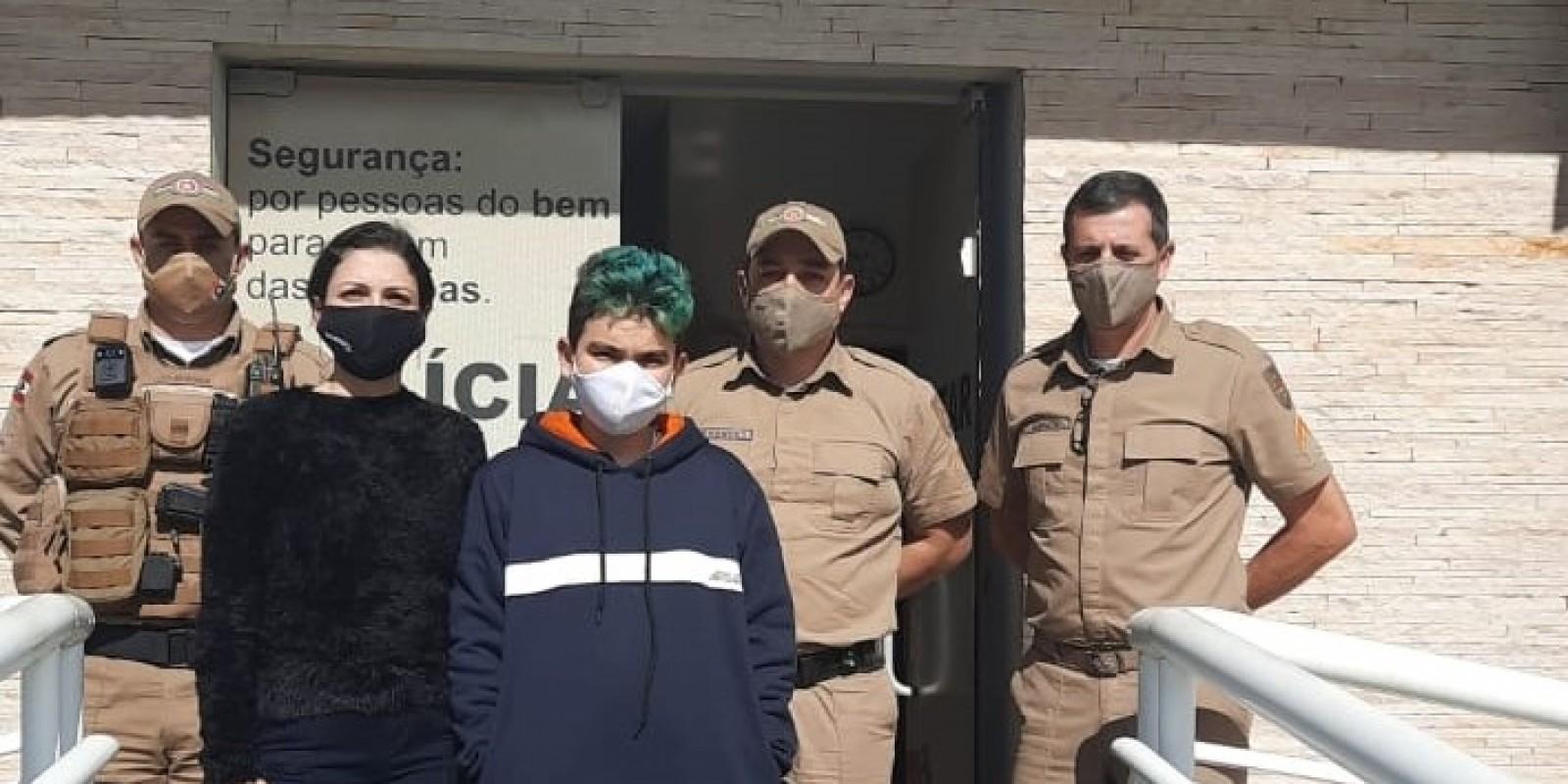 Menino desaparecido em Braço do Norte é encontrado em Urussanga