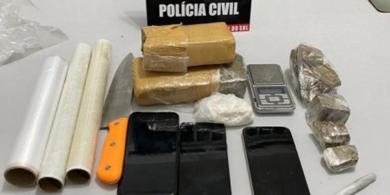 Polícia Civil realiza operação contra o tráfico de drogas em Cocal do Sul