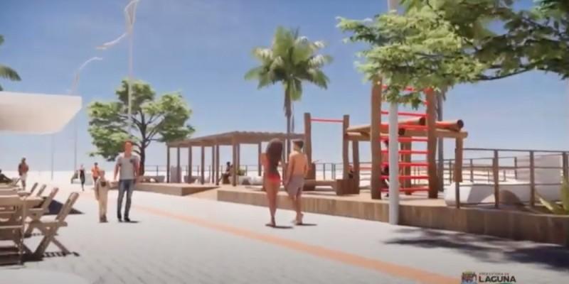 Projeto de revitalização na orla do Mar Grosso, em Laguna, é apresentado