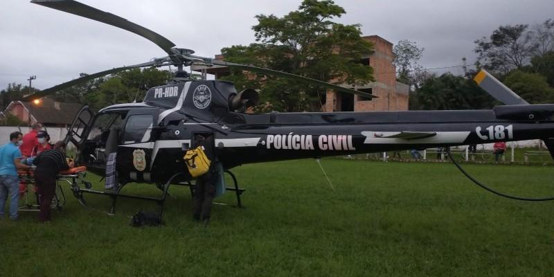 Criança de 11 anos é atropelada e socorrida pelo Serviço Aeromédico em Praia Grande