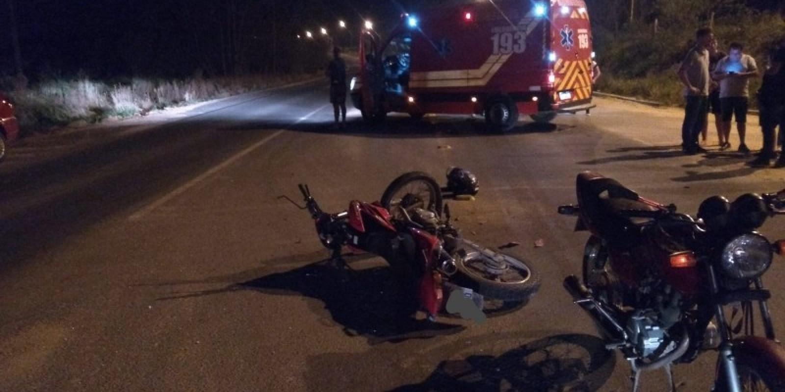 Motociclista é hospitalizado após acidente de trânsito em Cocal do Sul