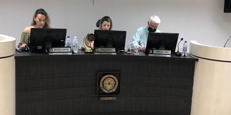 Sessão do dia 20 e setembro na Câmara de Vereadores de Orleans
