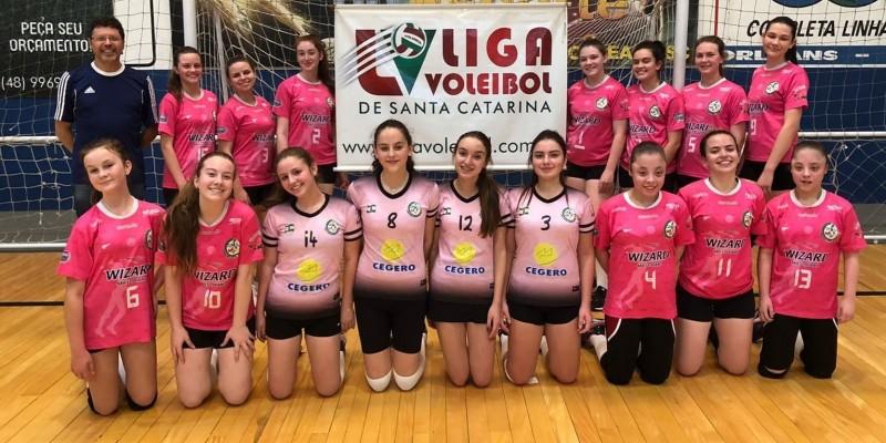 Equipe Sub 17 Feminina de São Ludgero disputa a final da Liga Voleibol de Santa Catarina